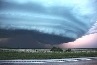 Poster featuring the photograph Wynnewood Tornado by James Menzies