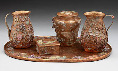 Poster featuring the sculpture Wyoming Wildflowers Bronze Set by Dawn Senior-Trask