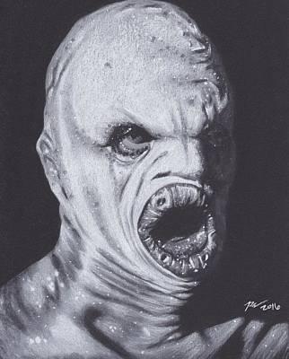 X Files Flukeman Poster by Brittni DeWeese
