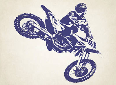 X Games Motocross 1 Poster by Stephanie Hamilton
