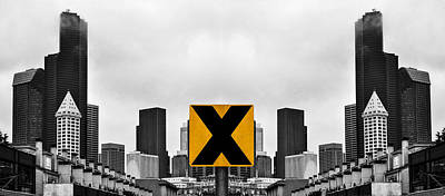 X Marks The Middle Poster by Pelo Blanco Photo