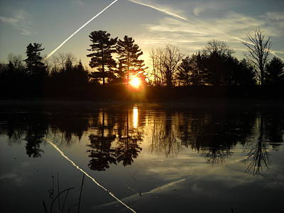 X Marks The Spot Sunrise Reflection Poster