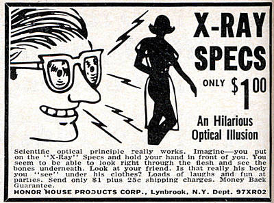 Poster featuring the digital art X-ray Specs $1.00 by Reinvintaged