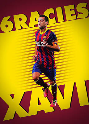 Xavi Hernandez Poster by Semih Yurdabak