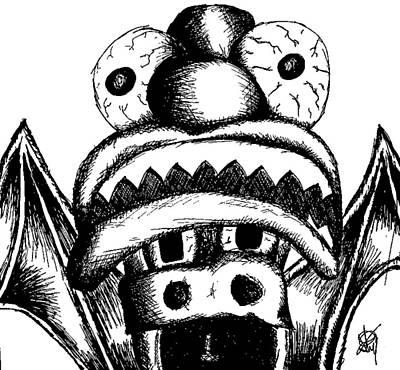 Xavier's Clown Hat Poster by Jera Sky