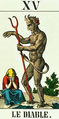 Xv The Devil   Tarot Card Poster