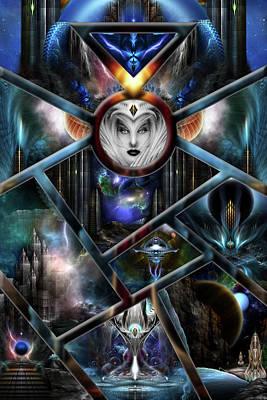 Xzendor7 Realm Of Fractal Fantasies Matrix Poster by Xzendor7