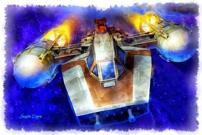Y-wing Fighter  - Aquarell Style -  - Da Poster by Leonardo Digenio