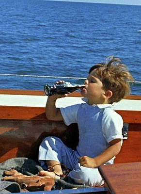 Yachting With John F. Kennedy Jr., Coca Cola, Cape Cod, Ma Poster