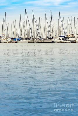 Yachts At Sea Poster by Svetlana Sewell