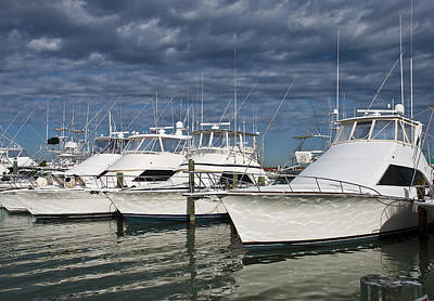 Yachts At The Dock Poster
