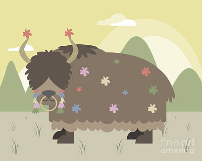 Yak In Mountains Poster