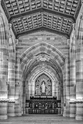 Poster featuring the photograph Yale University Sterling Memorial Library Bw  by Susan Candelario