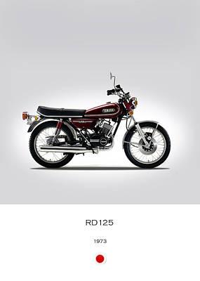 Yamaha Rd125 1973 Poster