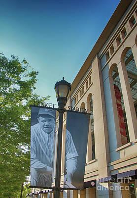 Yankee Stadium Babe Ruth Plaza Poster by Nishanth Gopinathan