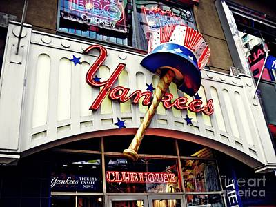 Yankees Club House Store Poster by Sarah Loft
