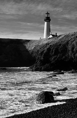 Yaquina Head Lighthouse Poster by Lara Ellis