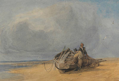 Yarmouth Sands, Norfolk Poster by John Sell Cotman