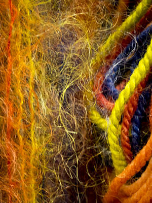 Yarn And Fiber Abstract Poster by Jean Noren