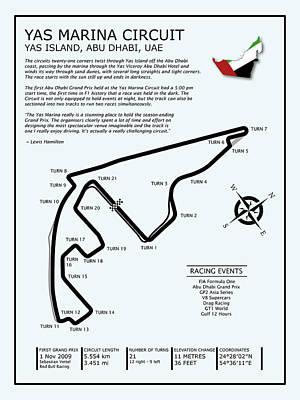 Yas Marina Circuit Poster by Mark Rogan