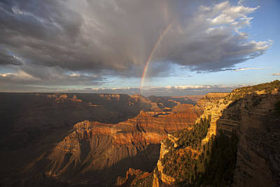 Yavapai Point Rainbow I Poster by Mike Buchheit