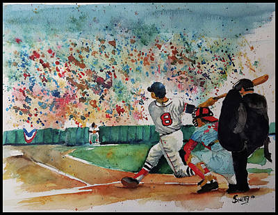 Yaz At The Plate Poster by Fred Smith