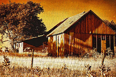 Ye Old Sepia Outbuildings Poster by Anna Louise