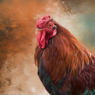 Poster featuring the photograph Year Of The Rooster 2017 by Robin-Lee Vieira