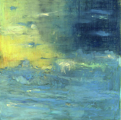 Poster featuring the painting Yearning Tides by Michal Mitak Mahgerefteh