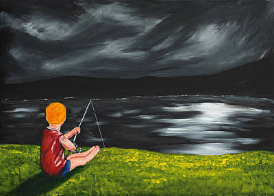 Poster featuring the painting Yel No Catch A Kelpie Wi That by Scott Wilmot