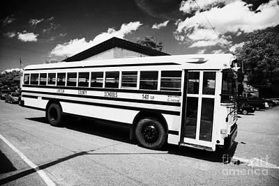 yellow american bluebird school bus in Lynchburg tennessee usa Poster
