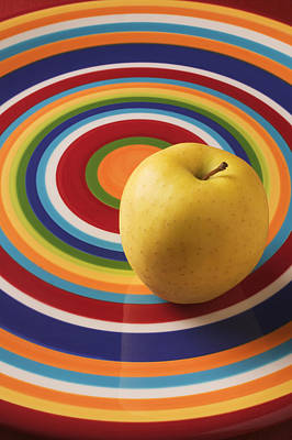 Yellow Apple  Poster by Garry Gay