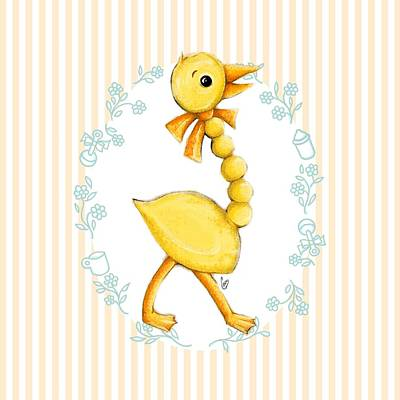 Yellow Baby Duck Poster