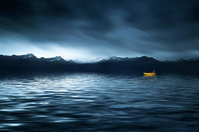 Poster featuring the photograph Yellow Boat by Bess Hamiti