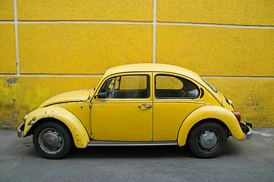 Yellow Bug Poster by Skip Hunt