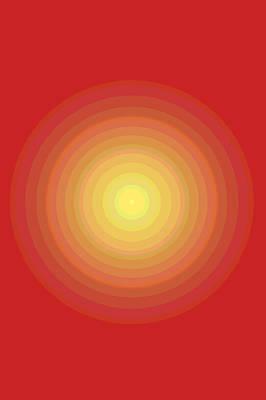 Yellow Bullseye Poster by Patrick Lennon