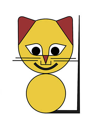 Yellow Cat Poster by Asbjorn Lonvig