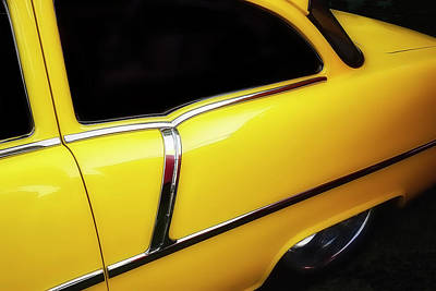 Yellow Chev Poster by Jerry Golab