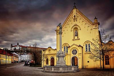 Yellow Church In Bratislava  Poster by Carol Japp