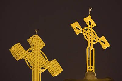 Yellow Crosses Poster