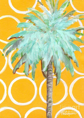 Yellow Delilah Palm Poster