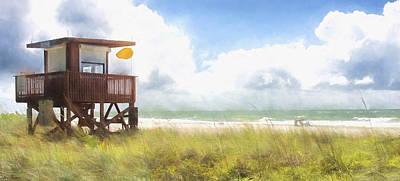 Yellow Flag, Santa Maria Island, Florida Poster