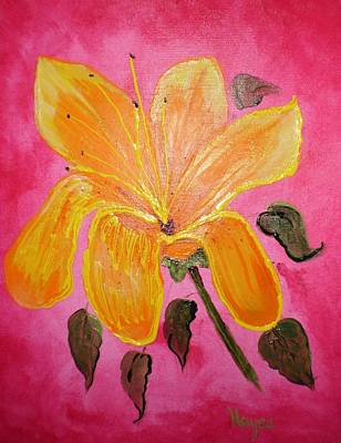 Poster featuring the painting Yellow Flower by Barbara Hayes