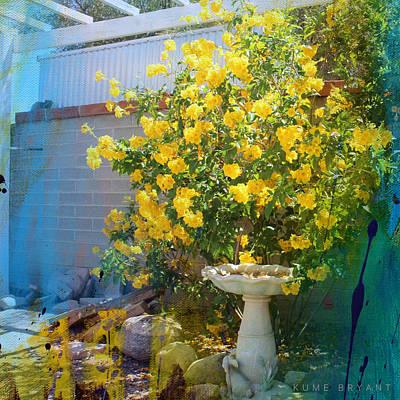 Yellow Flower Garden Poster