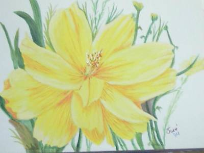 Yellow Garden Flower Poster by Hilda and Jose Garrancho