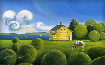 Yellow House Poster by John Deecken