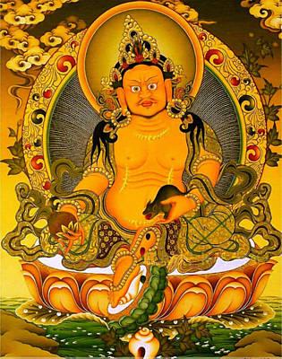 Yellow Jambhala 3 Poster by Lanjee Chee