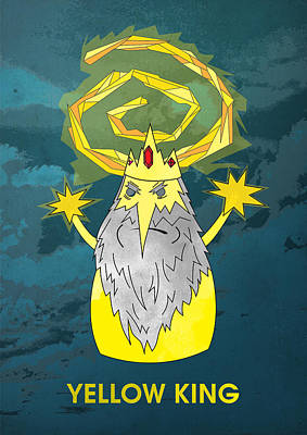 Yellow King True Detective Adventure Time Poster