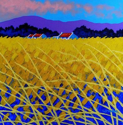 Yellow Meadow Poster by John  Nolan