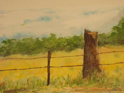 Poster featuring the painting Yellow Meadow  by Vicki  Housel